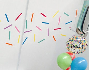Sprinkle stickers (Set 60), Sprinkle Wall Decals, Confetti Sprinkles Wall Stickers, Sprinkles room decor, Nursery wall stickers