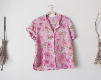 Sheer Pink Lemonade Floral Hawaiian Shirt