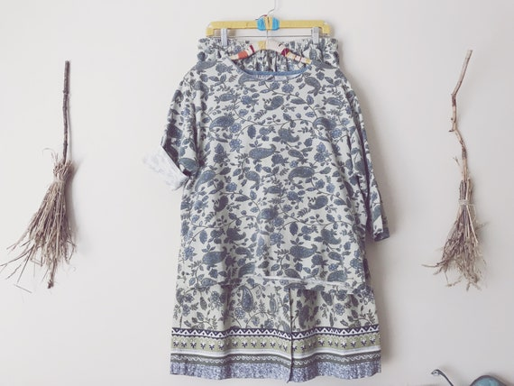 Sage Green / Gray, Paisley Skirt Set | Paisley Den
