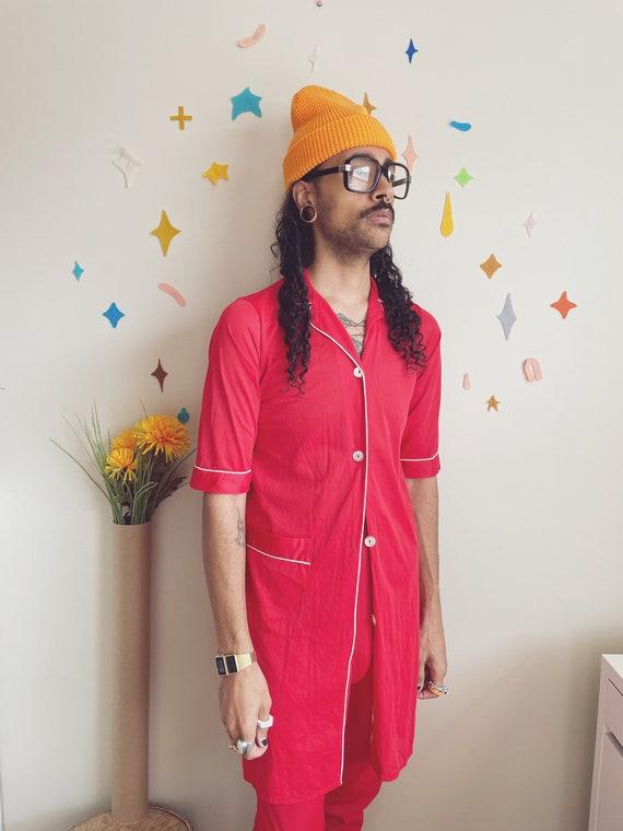 Sheer Red Pajama Set | 70s Valentines Red Pajama S
