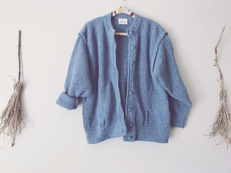 Nuage laine bleu, laine Nuage Cardigan pull en tricot c83d32