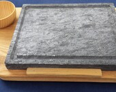 DOOR SOD piotta pioda, Grill Pan, Grill, single piece of wood and soapstone (sasso for cooking) with Bowl, Bowl