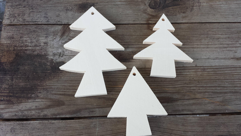 Alberi Di Natale In Legno Da Appendere : Sagome forme di albero di natale in legno compensato con foro etsy