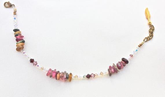 bracelet mariage pierres fines : tourmaline et swarovski