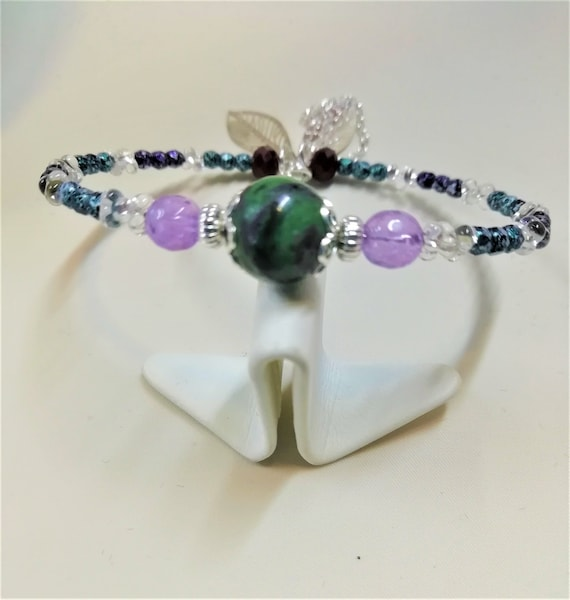 925 silver bracelet Bohemian beads and gemstones