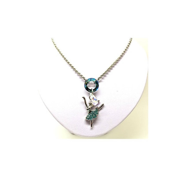 strassed ballerina necklace and swarovski elements