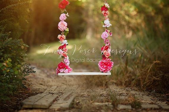 flower swing digital backdrop