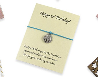 21st Birthday Gift Wish Bracelet, 21st Birthday ideas, Finally 21, Gift for 21st years, 21 today, 21st keepsake, 21st gift for her.
