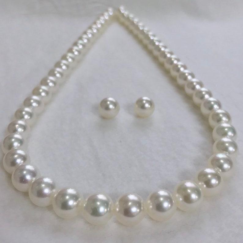 pretty nice f95ea 39408 Iki perle HANADAMA Giappone Akoya coltivate perla collana orecchini Set  7-7.5/7.5-8/8-8.5/8.5-9mm