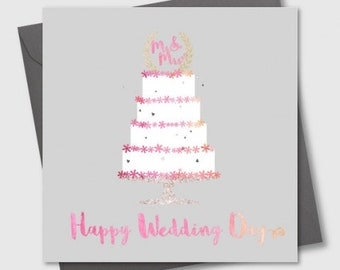 Happy Wedding Day greetings card