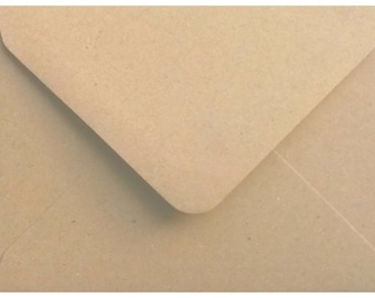 100 Premium Brown Fleck Kraft Envelopes by Mad as a Crafter (Various sizes)