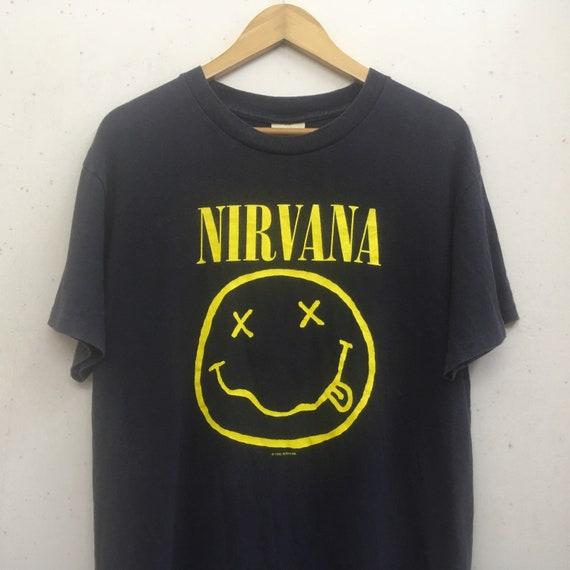 Vintage 1992 Nirvana Smile Tshirt size M/smiley ni