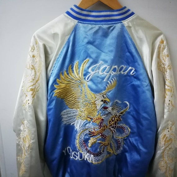 Vintage sukajan jacket/souvenir Dragon satin jacke