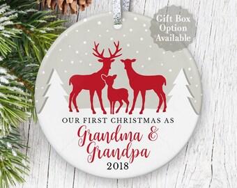 new grandma grandpa christmas gift for pregnancy announcement first christmas as grandparents ornaments new grandparents keepsake