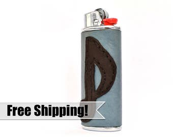 Exclusive Lighter Cover – Personalize your BIC with this Handmade Music Note Case – Genuine Leather / Unique Smoker Accessory / Perfect Gift