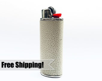 Unique Lighter Holder – Cover your BIC in this Handmade Leather Metal Case – Bachelorette Party / Gift for Girlfriend / Cannabis Accessory