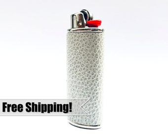 Leather Lighter Case – Cover your BIC in this Custom Sleeve – Bachelor Party / Cigarette Accessory / Unique Boyfriend Gift / Smokers