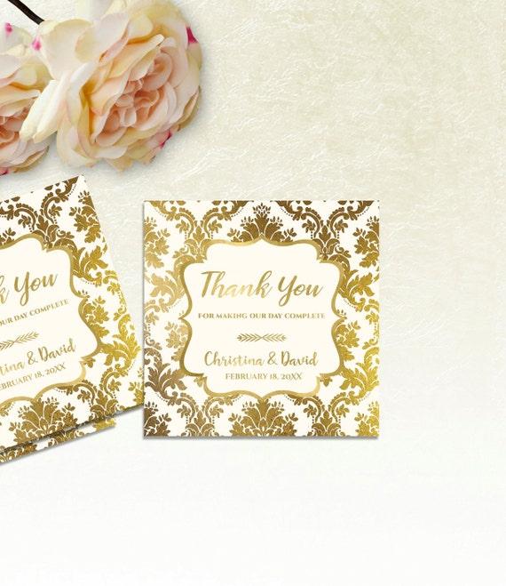 printable wedding thank you tags printable wedding favor etsy