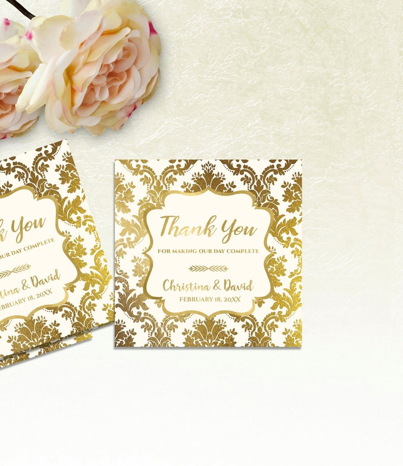 Printable Wedding Thank You Tags Printable Wedding Favor Etsy