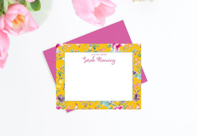 picture regarding Printable Note Card called Floral Notecards, Tailored Observe Playing cards for Girls, Printable Notecards, Stylish Thank On your own Playing cards, Womens Stationary, Electronic