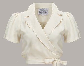 1db235105970d Greta Blouse in Cream by The Seamstress of Bloomsbury