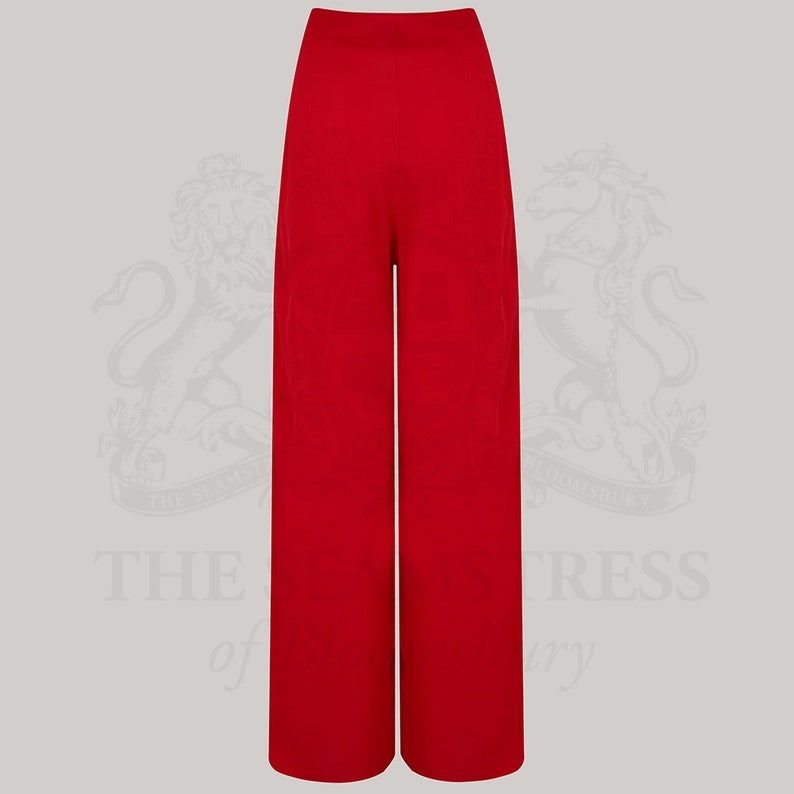 Vintage Wide Leg Pants & Beach Pajamas History Audrey Trousers $70.62 AT vintagedancer.com