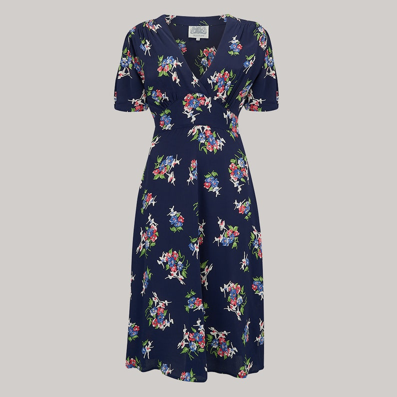 5c4da55f47168 Dolores Dress in Navy Floral by The Seamstress of Bloomsbury | Etsy