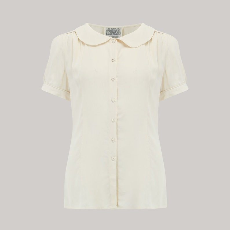 Jive Blouse in Cream by The Seamstress of Bloomsbury  image 0