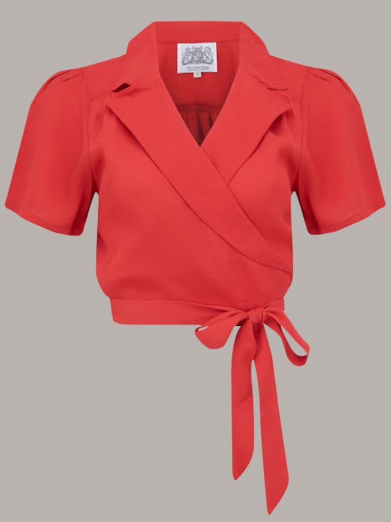 1940s Blouses and Tops Greta Blouse  $56.20 AT vintagedancer.com