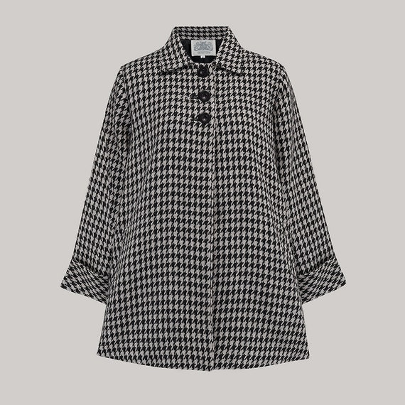 Vintage Coats & Jackets | Retro Coats and Jackets Swing Jacket in Houndstooth Check by The Seamstress of Bloomsbury | Authentic Vintage 1940s Style $165.26 AT vintagedancer.com
