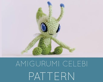 Pokemon crochet pattern, amigurumi pattern pokemon, Celebi pokemon, crochet patterns amigurumi, pokemon plush pattern, pokemon go pattern