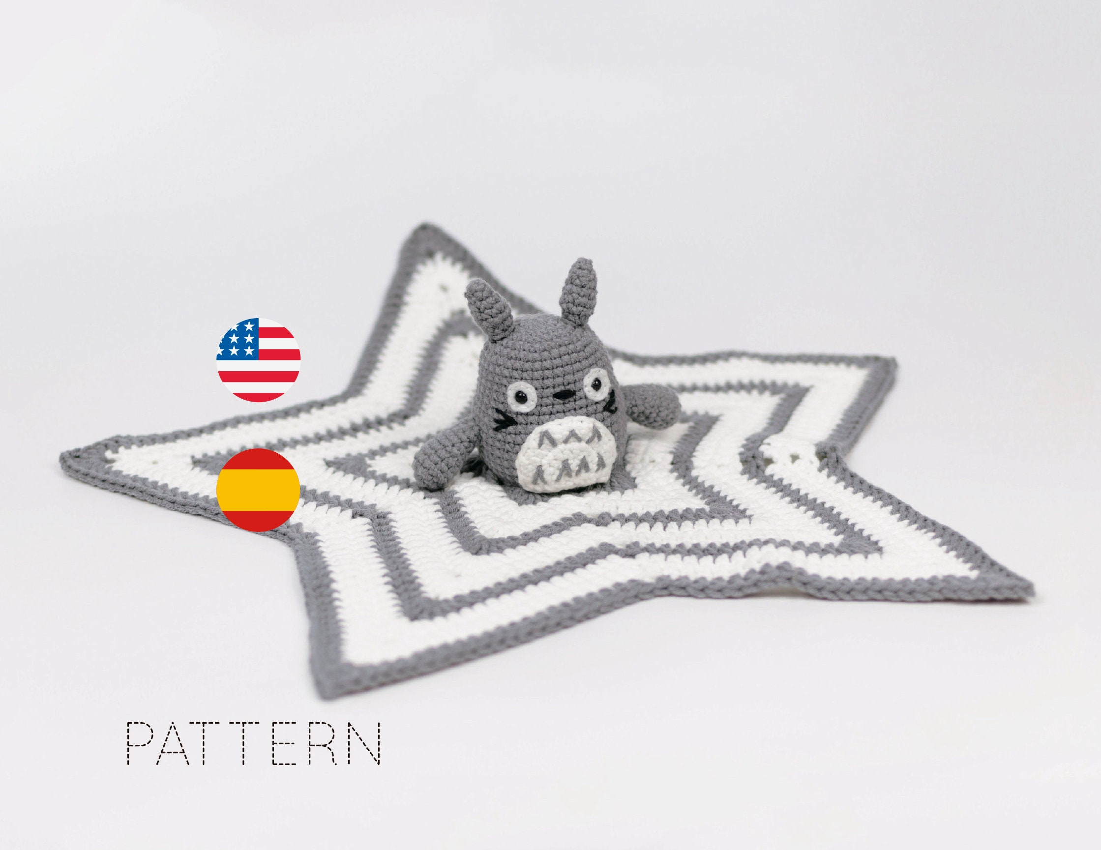 Patron Totoro PDF mantita apego totoro mantita bebe patron | Etsy