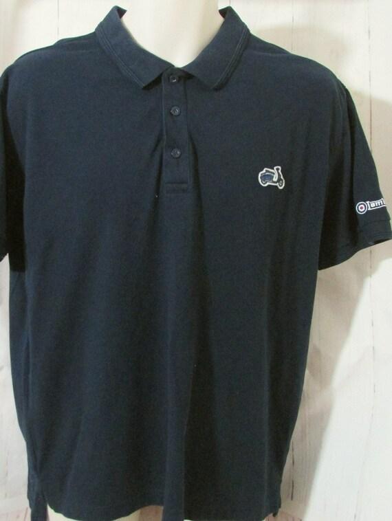 Lambretta Purple//Sky Piped 100/% Cotton Polo Shirt