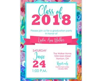 graduation invitation 2018 graduation party invitation etsy