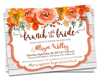 fall bridal shower invites fall bridal shower invitations brunch with the bride fall bridal shower invite autumn wedding shower