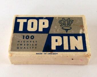 Top Pin vintage box of tacks