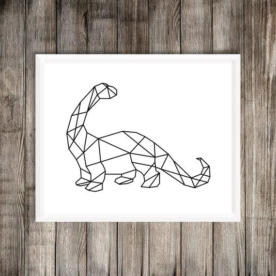 Impresion De Arte De Dinosaurio Geometrico Cuello Largo Etsy La palabra dinosaurio es un neologismo acuñado por el paleontólogo británico richard owen aunque no existe coincidencia entre las fuentes, todo parece indicar que los dinosaurios vivieron en. impresion de arte de dinosaurio geometrico cuello largo blanco y negro brontosaurus dinosaurio geometrico dinosaurio blanco y negro impresion