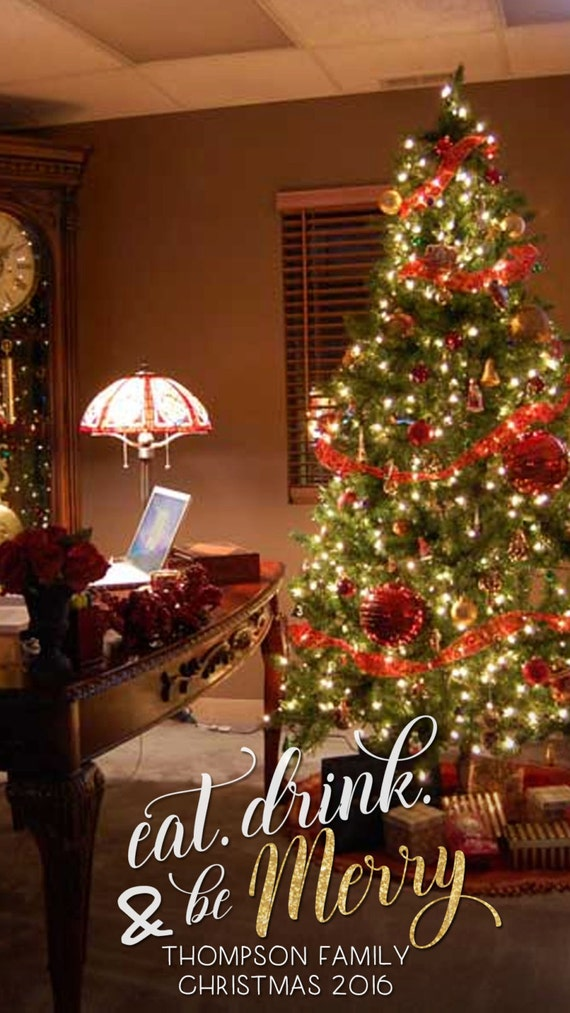Benutzerdefinierte Urlaub Weihnachten Snapchat Filter. Essen | Etsy