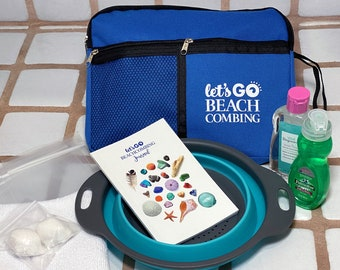Let's Go Beachcombing Kit - Everything you need to clean and sort your beach finds while you're on the go!