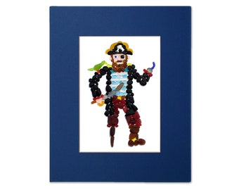 Sea Glass Pirate Matted Print