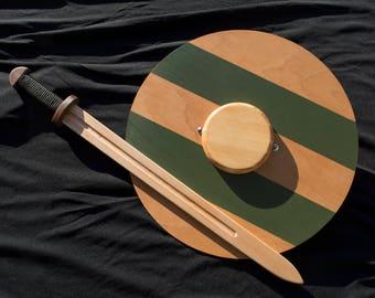 Viking Toy Sword & Shield - Handmade Wooden Sword