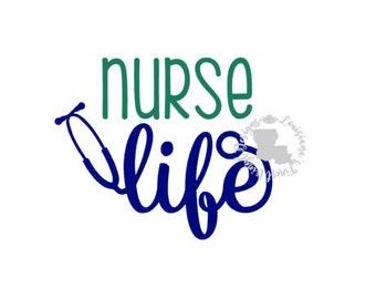 Nurse Life Decal / Nurse Decal / Nurse Sticker / Nurse Life Sticker / Nurse Tumbler Decal / Nurse Car Decal / Stethoscope Decal / Nurse Life