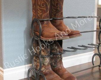 Horseshoe Boot Rack. 6 Pair Boot Rack FREE SHIPPING LOWER 48
