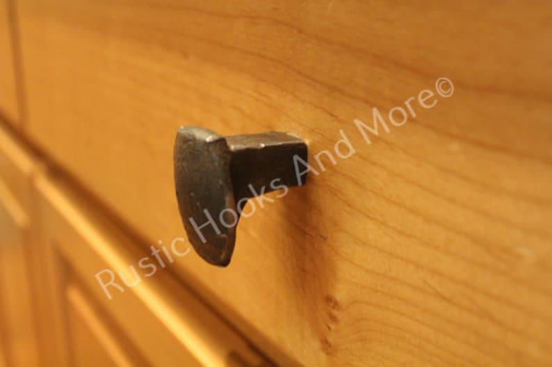 Railroad Spike Cabinet Knob Railroad Spike Drawer Pull image 0