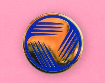Vestron Video Logo Enamel Pin - Retro VHS lapel pin