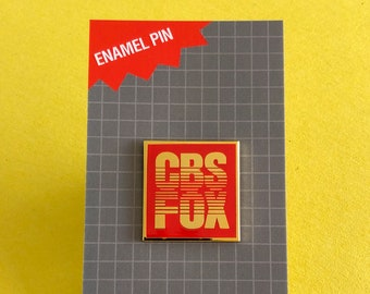 CBS FOX Films Logo Enamel Pin - Retro VHS lapel pin