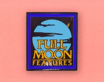 Full Moon Features Logo Enamel Pin - Retro VHS Horror lapel pin