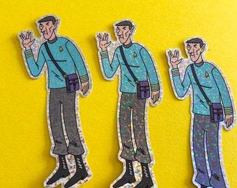 Star Trek Spock Sticker - Glitter Sticker