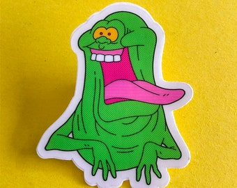 Slimer Ghostbusters see-through sticker