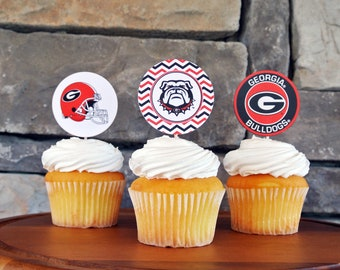 Uga Georgia Bulldog Baby Shower Birthday Party Invitation Etsy